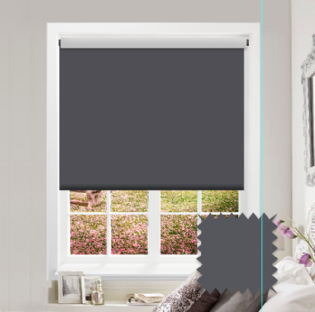 Grey Roller Blind - Bahamas Moody Grey
